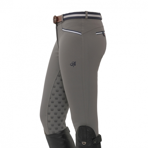 Lucy Full Grip Breeches - Mid Grey