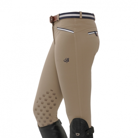 Lucy Knee Grip Breeches - Clay
