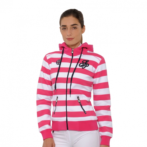 Annalena Hooded Jacket - Pink/White