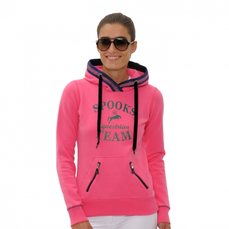 Spooks Pink Hooded Top