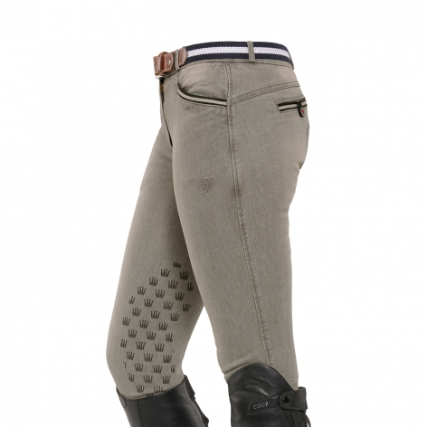 Spooks Grey Denim Breeches