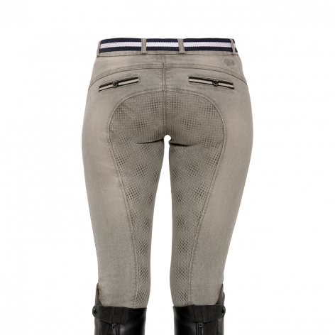 Full Seat Grey Denim Breeches