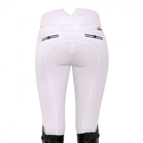 White High Waist Breeches