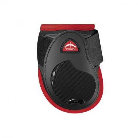 Young Jump Vento Fetlock Boots - Black/Red