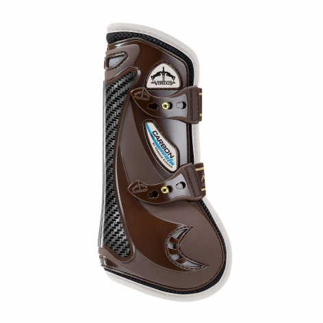 Carbon Gel Vento Tendon Boots - Brown/Ivory