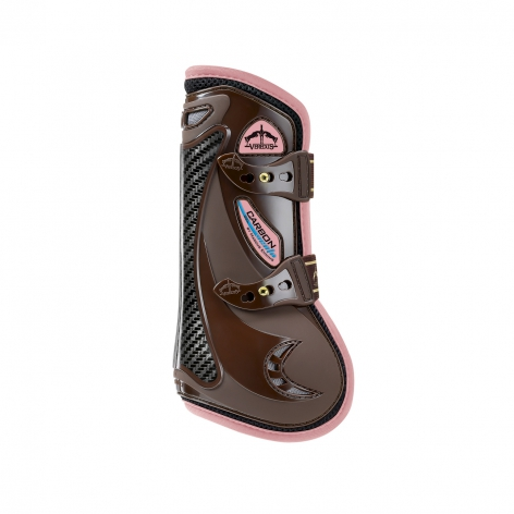 Carbon Gel Vento Tendon Boots - Brown/Light Pink