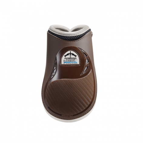Carbon Gel Vento Fetlock Boots - Brown/Ivory
