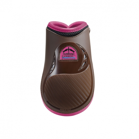 Carbon Gel Vento Fetlock Boots - Brown/Pink