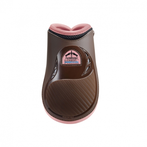 Carbon Gel Vento Fetlock Boots - Brown/Light Pink