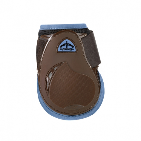 Young Jump Vento Fetlock Boots - Brown/Light Blue