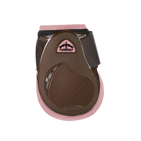 Young Jump Vento Fetlock Boots - Brown/Light Pink