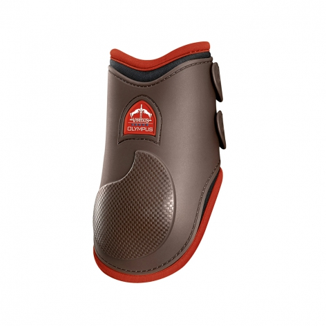 Olympus Fetlock Boots - Brown/Red