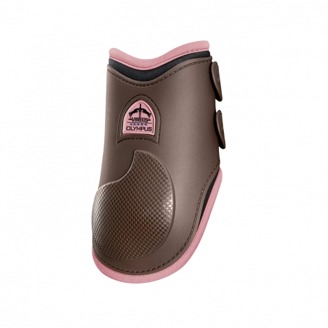 Olympus Fetlock Boots - Brown/Light Pink