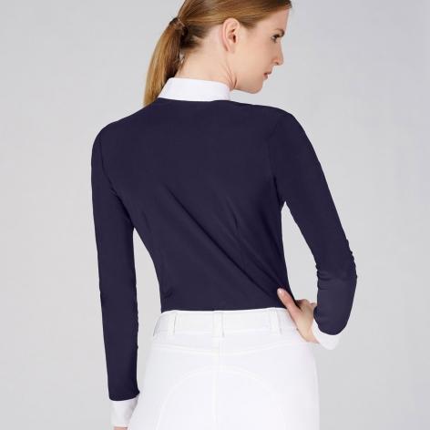 Verbier Long Sleeve Show Shirt - Navy Image 3