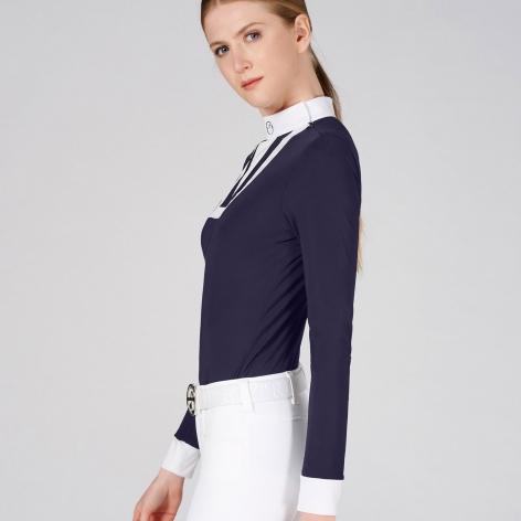 Verbier Long Sleeve Show Shirt - Navy Image 4