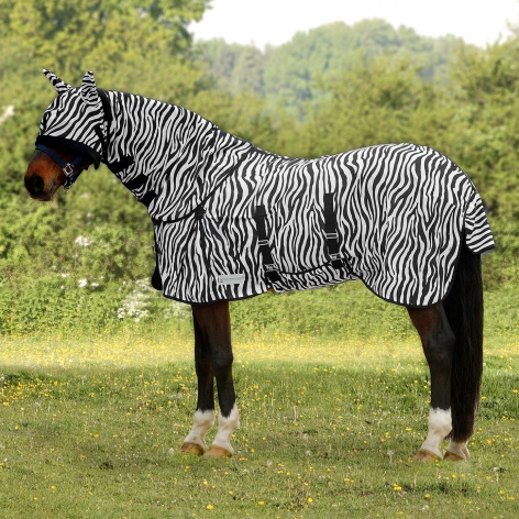 Horse Zebra Fly Rug