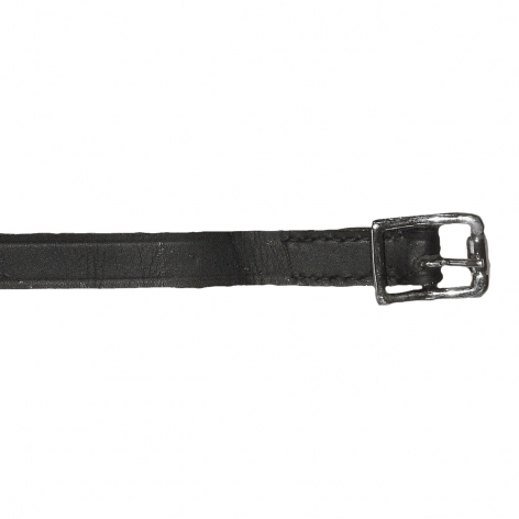 Black Leather Spur Straps