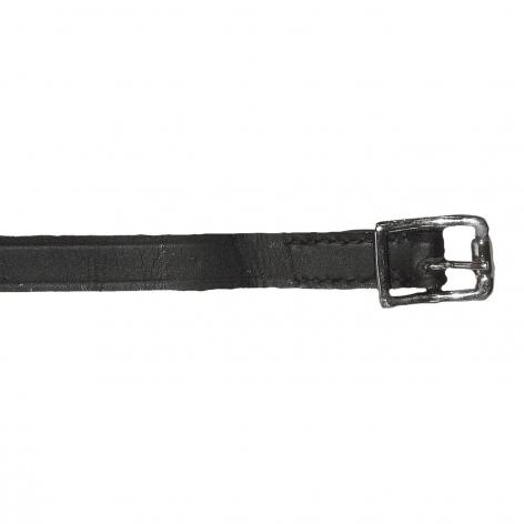 Black Leather Spur Straps